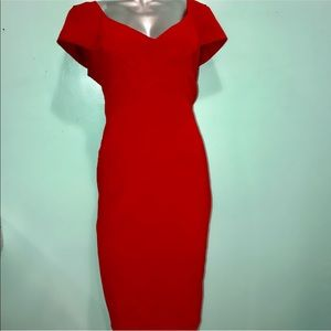 Jones New York red pencil dress